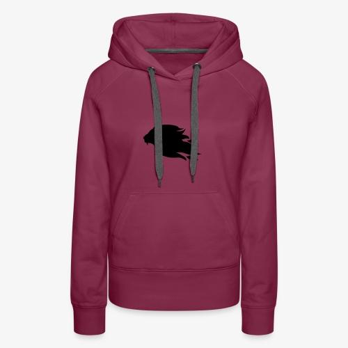 PR3DATOR (Half Logo) [Black] - Women's Premium Hoodie