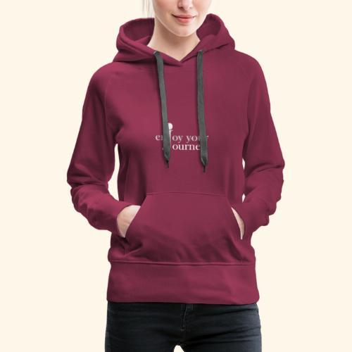 enjoy your journey Logo - weiß - Frauen Premium Hoodie