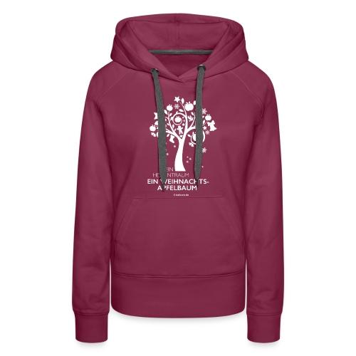 Weihnachtsapfelbaum klassisch, weiß - Frauen Premium Hoodie