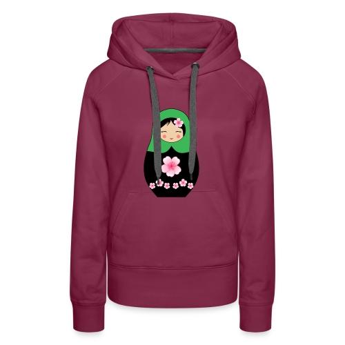 Matroschka Puppe grün - Frauen Premium Hoodie