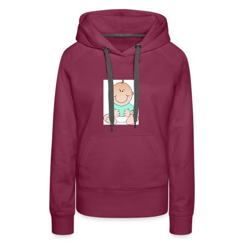 rompertje baby jongen - Vrouwen Premium hoodie