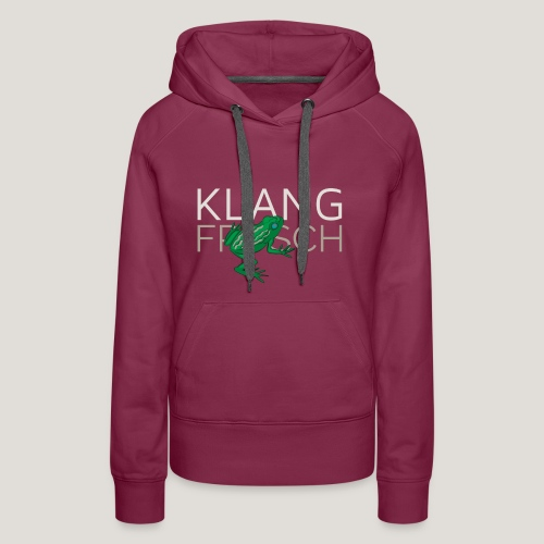 Klangfrosch - Frauen Premium Hoodie