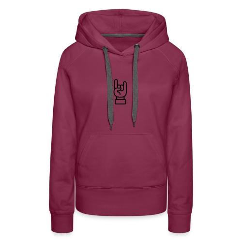 Rock' sign - Sweat-shirt à capuche Premium pour femmes