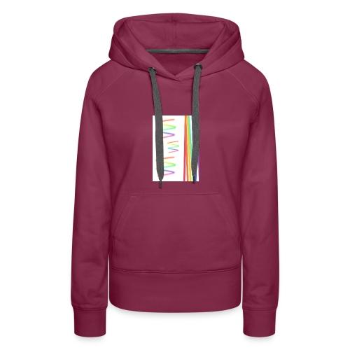 Lineas coloridas - Sudadera con capucha premium para mujer