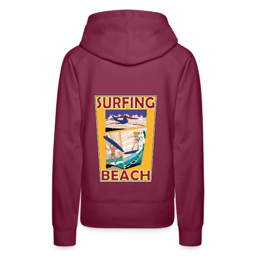 Surfing beach comic Urlaub t-shirt - Frauen Premium Hoodie