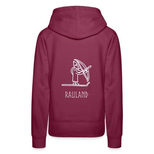 Rauland Med Ullr På Ski - Premium hettegenser for kvinner