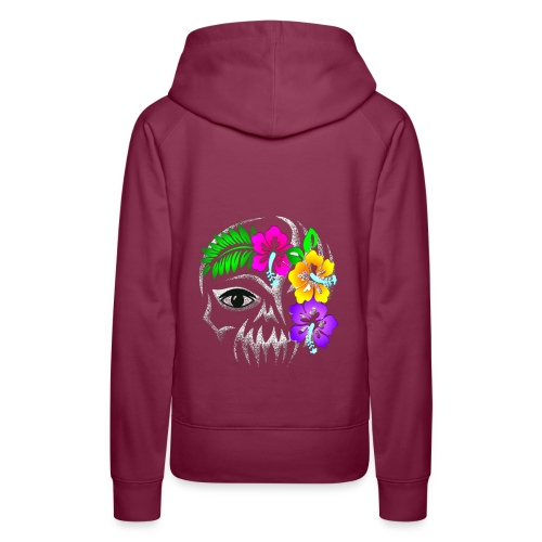 Alien Flower Skull - Frauen Premium Hoodie