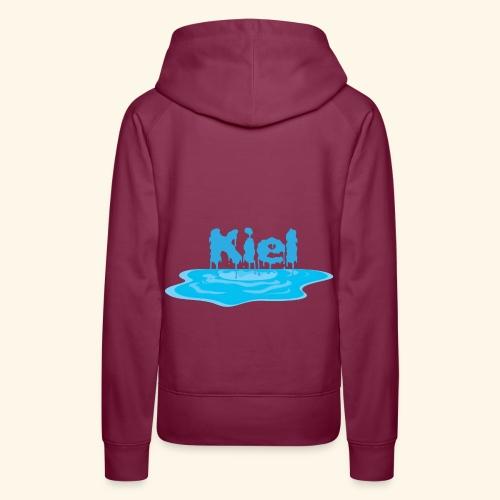Kiel Tropfend Design Wasser Schrift - Frauen Premium Hoodie
