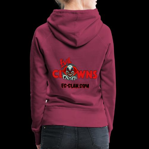 EvilClownsClan black red kontur red - Frauen Premium Hoodie