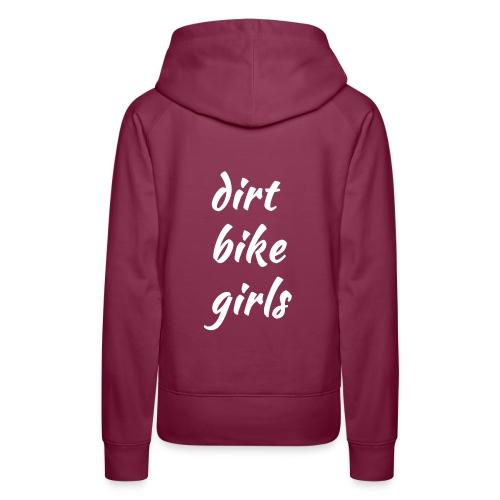 dirt bike girls - Premium hettegenser for kvinner