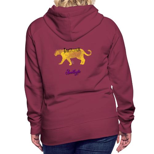 Jaguar et Améthyste - Sweat-shirt à capuche Premium pour femmes