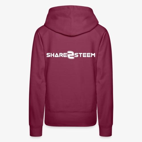 Share2Steem - Sweat-shirt à capuche Premium pour femmes
