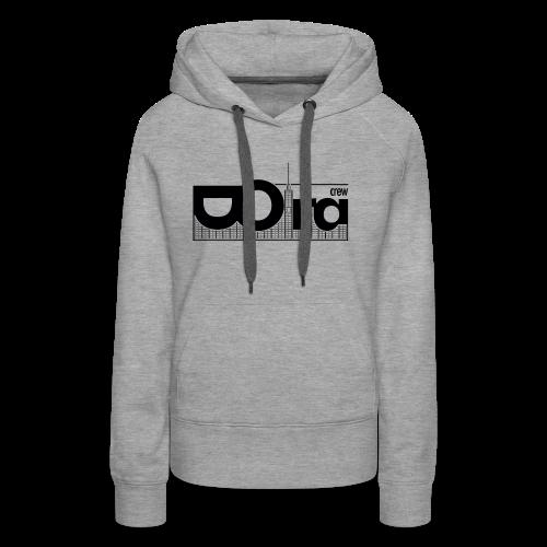 DORA Crew Logo II - Felpa con cappuccio premium da donna