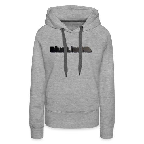 BlueLionHD Logo Schwarz/Grau - Frauen Premium Hoodie