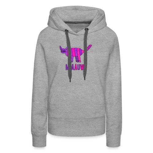 miaauw, paarse poes - Vrouwen Premium hoodie