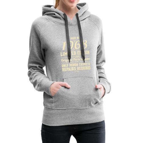Gemaakt in 1968 persoonlijk cadeau - Vrouwen Premium hoodie