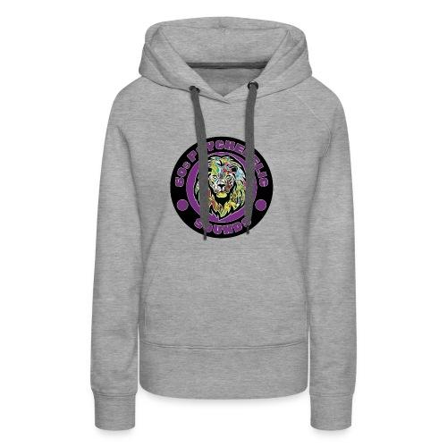 leon1 - Sudadera con capucha premium para mujer