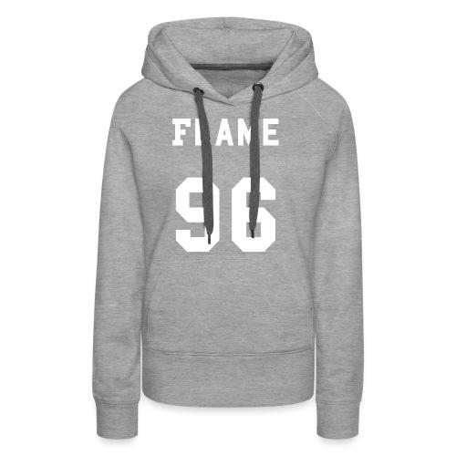 maglietta_flame_96 - Felpa con cappuccio premium da donna