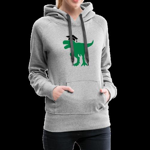 Dinosaurier Doktorhut Promotion Dissertation - Frauen Premium Hoodie