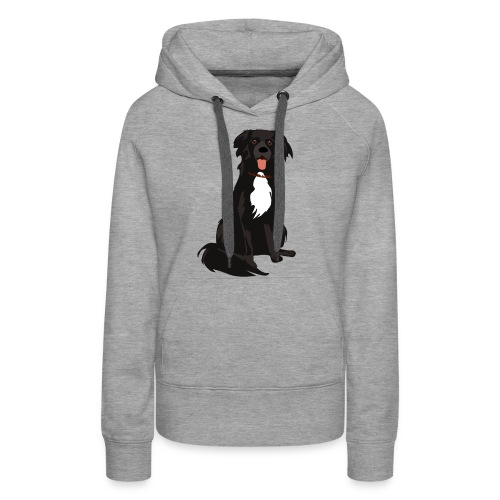 border collie illustratie - Vrouwen Premium hoodie