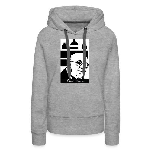 Pope_Francisco - Felpa con cappuccio premium da donna