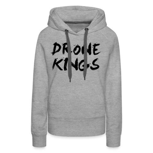 dronekings-blacktext-outlines - Premiumluvtröja dam
