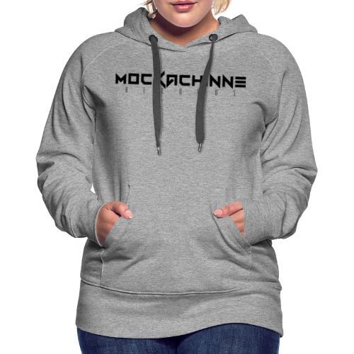 Logo Mockachinne Records - Sudadera con capucha premium para mujer