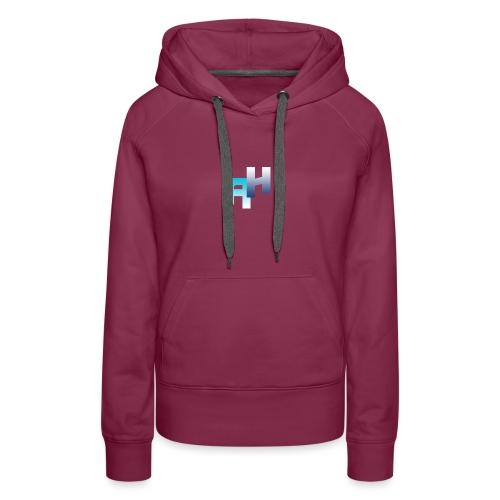 Logo-1 - Felpa con cappuccio premium da donna