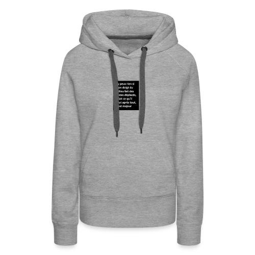 d9004b14d4b7a72c8284ece1ad7e0cd1 - Sweat-shirt à capuche Premium pour femmes