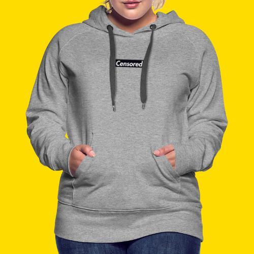 CENSORED ANTI-POPULATION-FORCE 2.0 - Sweat-shirt à capuche Premium pour femmes