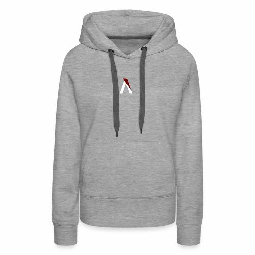 logo aog white and red - Sweat-shirt à capuche Premium pour femmes