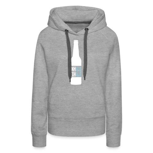Inhale Exhale Craft Beer T Shirt - Women's Premium Hoodie