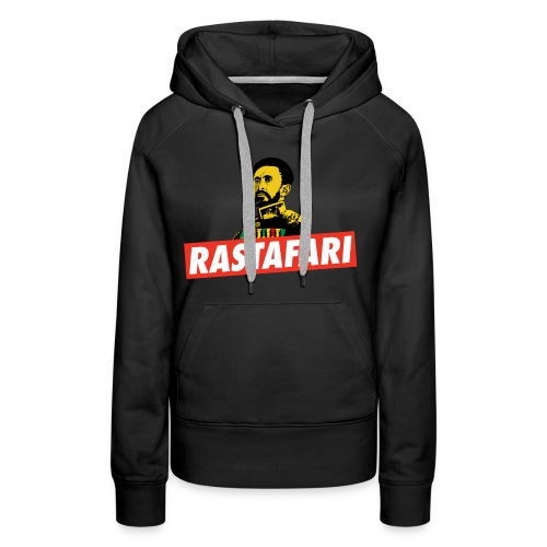 Rastafari - Haile Selassie - HIM - Jah Rastafara - Frauen Premium Hoodie