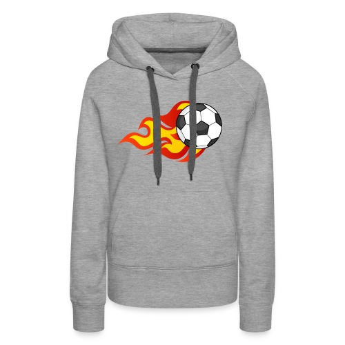 Flaming Football - Women's Premium Hoodie