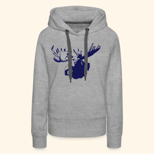 elch - elk - moose - jagd - jäger - Frauen Premium Hoodie