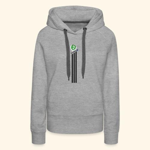 logo strepen - Vrouwen Premium hoodie