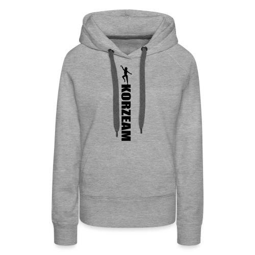 Korzeam unicolore - Sweat-shirt à capuche Premium pour femmes