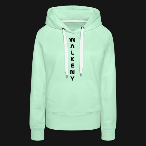 Walkeny Schriftzug vertikal in schwarz - Frauen Premium Hoodie