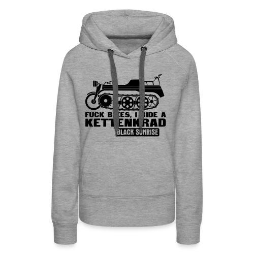 kettenkrad - Felpa con cappuccio premium da donna
