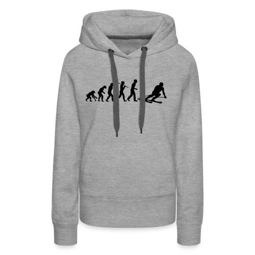 evolution ski - Sweat-shirt à capuche Premium pour femmes