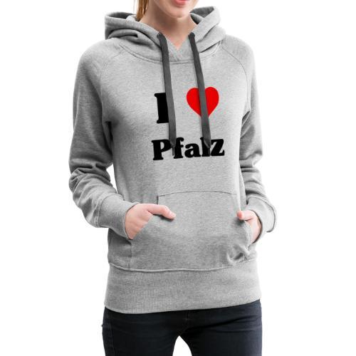 I love PFALZ hoodie black - Frauen Premium Hoodie