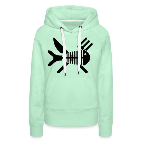 Poisson couvert - Sweat-shirt à capuche Premium pour femmes