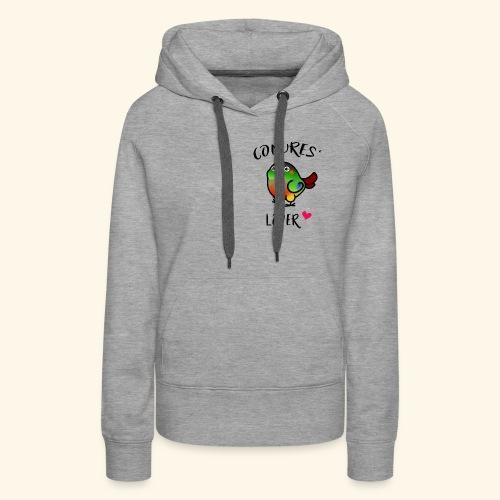 Conures' Lover: opaline - Sweat-shirt à capuche Premium pour femmes