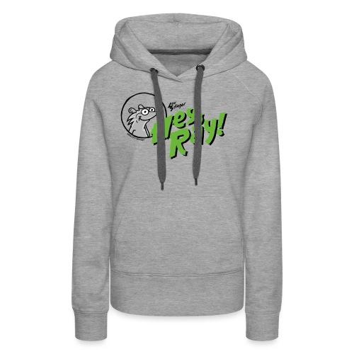 Hey Ray Logo green - Frauen Premium Hoodie