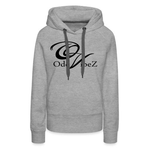 OV-logo-clean-black - Premiumluvtröja dam