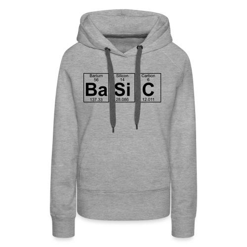 Ba-Si-C (basic) - Full - Women's Premium Hoodie