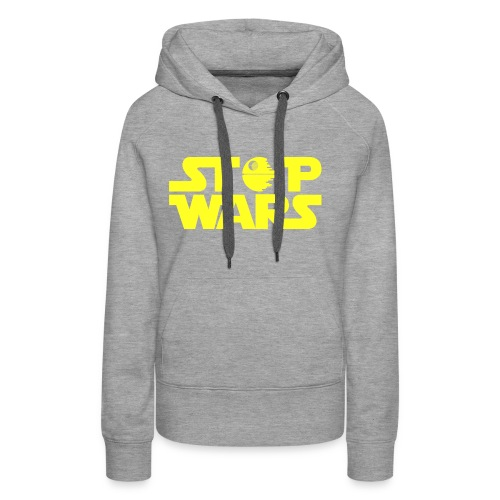 Stop Wars - Sudadera con capucha premium para mujer