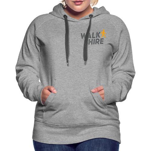 Walkshire logo orange person - Women's Premium Hoodie