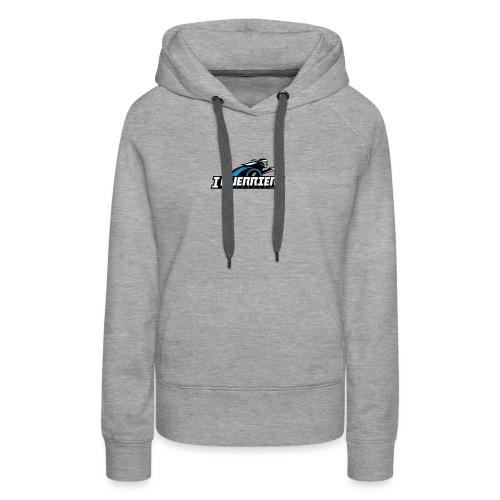 logo sans fond i guerrier - Sweat-shirt à capuche Premium pour femmes