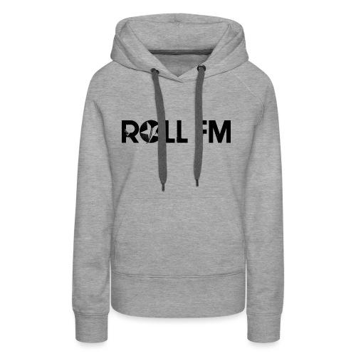 Roll FM - Black - Naisten premium-huppari